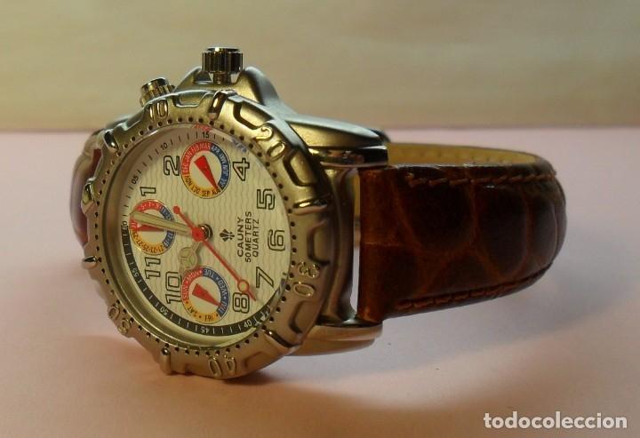 Relojes automáticos: Reloj de pulsera CAUNY 50 METERS QUARTZ para señora ** Con su estuche - Foto 3 - 180282945