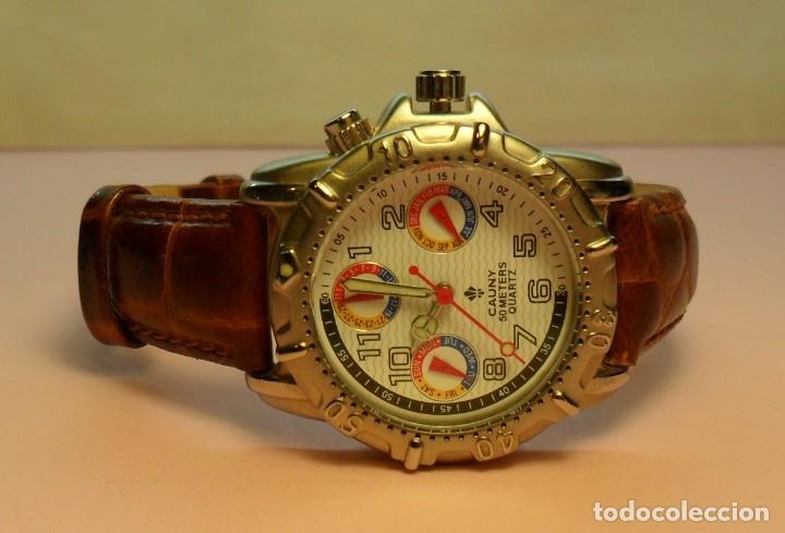Relojes automáticos: Reloj de pulsera CAUNY 50 METERS QUARTZ para señora ** Con su estuche - Foto 4 - 180282945