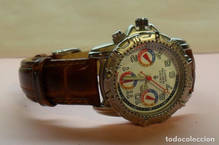 Relojes automáticos: Reloj de pulsera CAUNY 50 METERS QUARTZ para señora ** Con su estuche - Foto 5 - 180282945