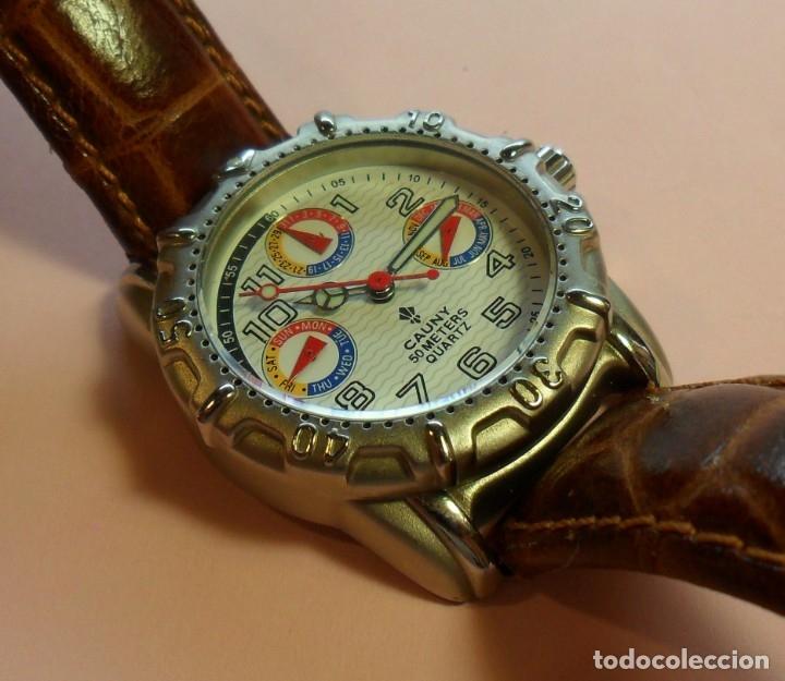 Relojes automáticos: Reloj de pulsera CAUNY 50 METERS QUARTZ para señora ** Con su estuche - Foto 7 - 180282945