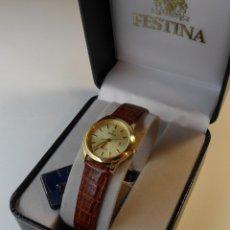 Relojes automáticos: RELOJ SUIZO DE PULSERA FESTINA SAPPHIRE CHAPADO EN ORO DE 5 M PARA SEÑORA - MODELO REGISTRADO F200. Lote 180283443