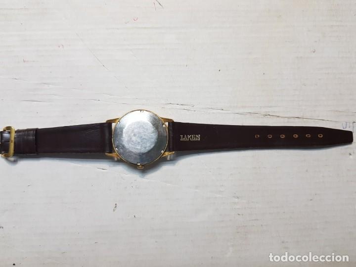Relojes automáticos: Reloj antiguo Laken 25 jewels caballero funcionando - Foto 4 - 180391423