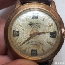 Relojes automáticos: RELOJ ANTIGUO ALANBURY 30 JEWELS AUTOMATIC CABALLERO ESFERA TEXTURADA. Lote 180392256