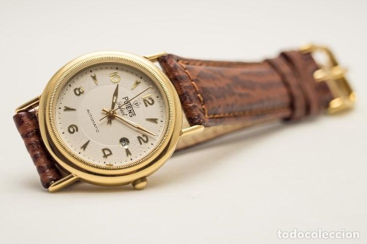 Relojes automáticos: RELOJ AUTOMATICO POTENS ORO - Foto 5 - 180399796