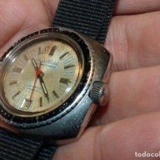 Relojes automáticos: BONITO RELOJ SCUBA AUTOMATICO SUIZO CRISTAL WATCH ETA 2782 VINTAGE 1970. Lote 180507978