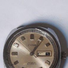 Relojes automáticos: RELOJ DE PULSERA AUTOMATICO CABALLERO CYNA 21 JEWELS. Lote 180862421