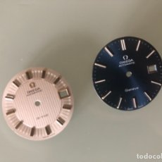 Relojes automáticos: DOS ESFERA ORIGINALES OMEGA DE 27,5 (BLANCA) Y 29,5 MM (AZUL). Lote 180870505