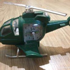 Relojes automáticos: RELOJ HELICOPTERO - AIR WOLF - FUNCIONA PERFECTAMENTE - CON MUSICA CUANDO SUENA LA ALARMA. Lote 181324411