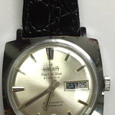 Relojes automáticos: RELOJ MARCA HELSA SÚPER DE LUXE 21 JEWELS AUTOMÁTICO EN FUNCIONAMIENTO. Lote 181410521