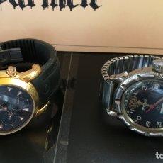 Relojes automáticos: RELOJ RUSO AUTOMÁTICO Y REGALO EL OTRO DE LA FOTO, LOS DOS PARA PIEZAS O PARA REPARAR. Lote 182129470