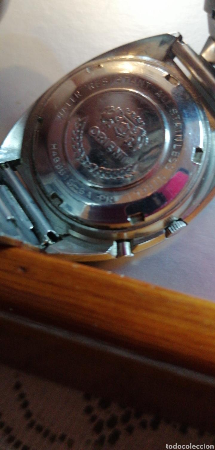 Relojes automáticos: RELOJ MARCA ORIENT AUTOMÁTICO 21 JEWELS CALENDARIO A LAS 3 - Foto 3 - 182303530