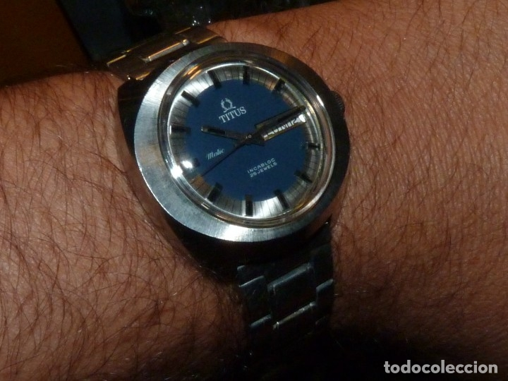 IMPRESIONANTE RELOJ SOLVIL & TITUS GENEVE CALIBRE AUTOMATICO FHF 908 SWISS MADE 25 RUBIS AÑOS 70 (Relojes - Relojes Automáticos)