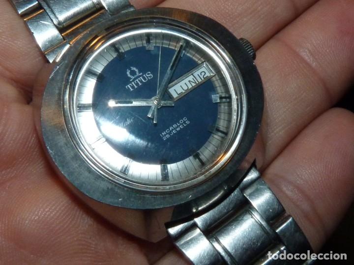 Relojes automáticos: IMPRESIONANTE RELOJ SOLVIL & TITUS GENEVE CALIBRE AUTOMATICO FHF 908 SWISS MADE 25 RUBIS AÑOS 70 - Foto 2 - 182525062