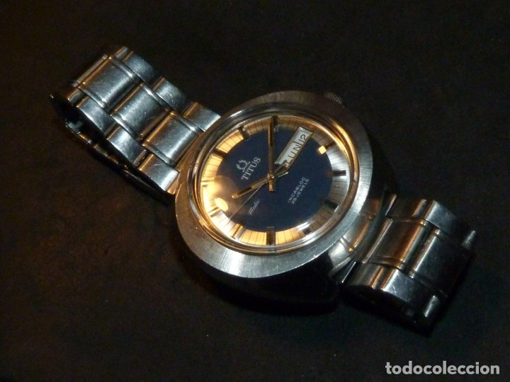 Relojes automáticos: IMPRESIONANTE RELOJ SOLVIL & TITUS GENEVE CALIBRE AUTOMATICO FHF 908 SWISS MADE 25 RUBIS AÑOS 70 - Foto 4 - 182525062
