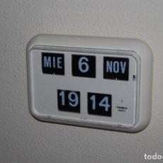 Relojes automáticos: RELOJ DE PARED TWEMCO - MODELO QD-35 - SISTEMA DE LÁMINAS - FLIP - ALEMANIA - INDUSTRIAL - AÑOS 70. Lote 238441535