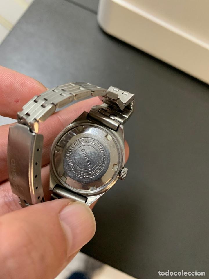 Relojes automáticos: Reloj antiguo ORIENT Automatic 21 Jewels vintage. Con calendario. Funcionando - Foto 5 - 182641877