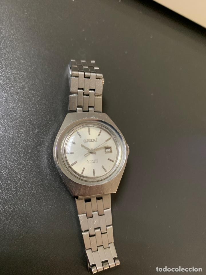 Relojes automáticos: Reloj antiguo ORIENT Automatic 21 Jewels vintage. Con calendario. Funcionando - Foto 6 - 182641877