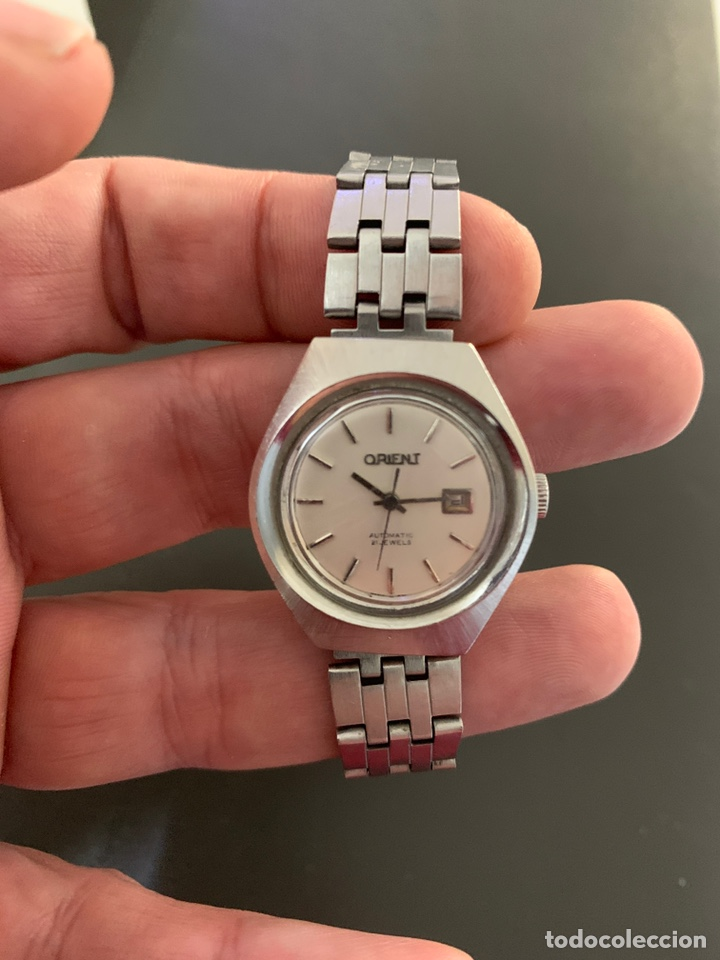Relojes automáticos: Reloj antiguo ORIENT Automatic 21 Jewels vintage. Con calendario. Funcionando - Foto 2 - 182641877