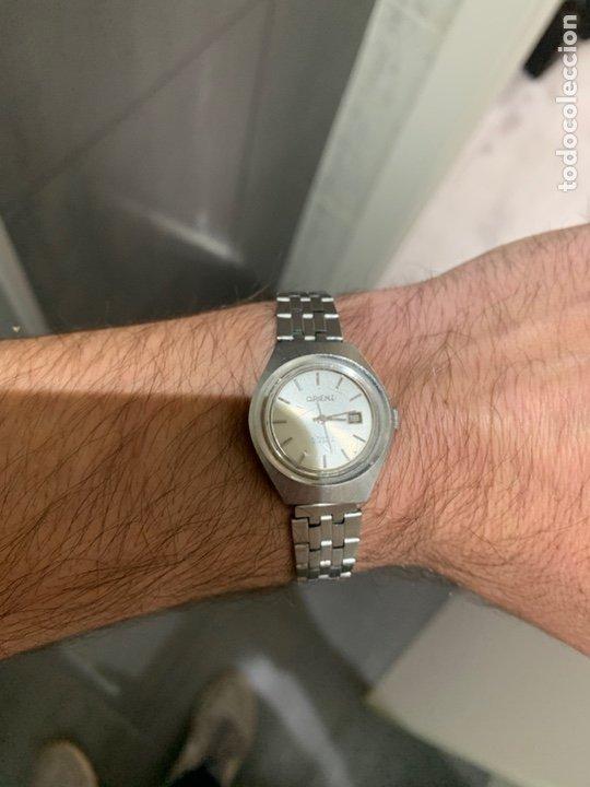 Relojes automáticos: Reloj antiguo ORIENT Automatic 21 Jewels vintage. Con calendario. Funcionando - Foto 10 - 182641877