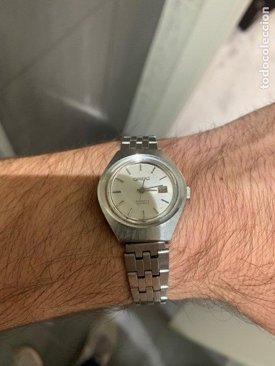 Relojes automáticos: Reloj antiguo ORIENT Automatic 21 Jewels vintage. Con calendario. Funcionando - Foto 11 - 182641877