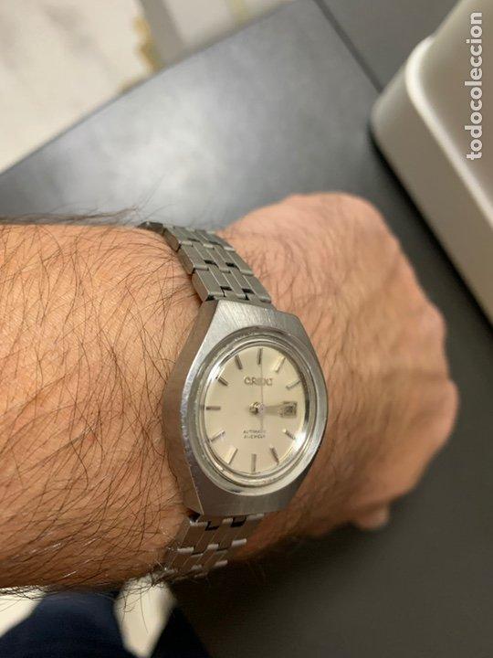 Relojes automáticos: Reloj antiguo ORIENT Automatic 21 Jewels vintage. Con calendario. Funcionando - Foto 12 - 182641877