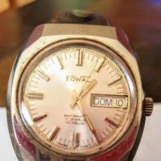 Relojes automáticos: RELOJ COWAL AUTOMATICO DOBLE CALEN 17JEWES INCABLO FUNCIONA PERFECTA DIÁMETRO 36.4 MILIMETROS. Lote 182767145