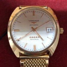 Relojes automáticos: RELOJ AUTOMÁTICO DE ORO DE 18K, LONGINES ADMIRAL 5 ESTRELLAS. 97,20GR. Lote 182865583
