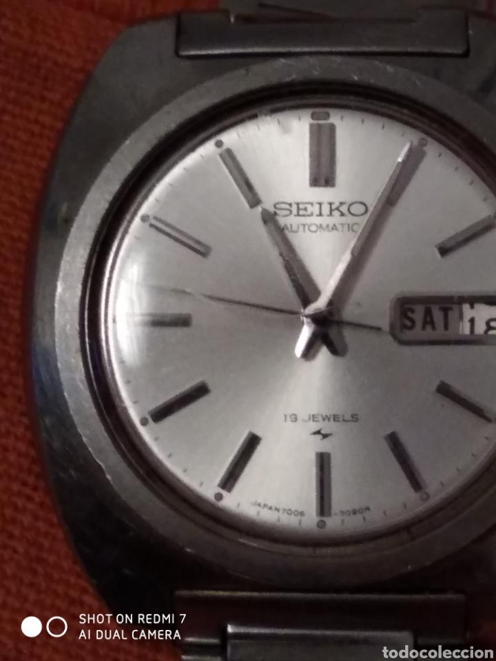 Relojes automáticos: Reloj seiko automatico 7006-7090 19 Jewels años 70 en perfecto funcionamiento - Foto 3 - 182915552