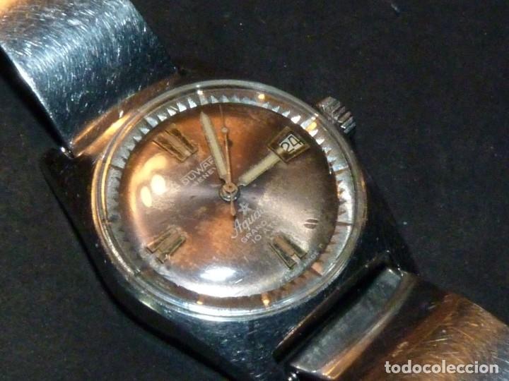 Relojes automáticos: CLASICO RELOJ AQUASTAR DUWARD AUTOMATICO GRAND AIR AS1713 DIVER 21 rubis 10 atm ACERO AÑOS 60 - Foto 2 - 183331612