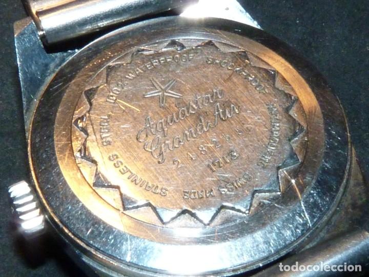 Relojes automáticos: CLASICO RELOJ AQUASTAR DUWARD AUTOMATICO GRAND AIR AS1713 DIVER 21 rubis 10 atm ACERO AÑOS 60 - Foto 5 - 183331612