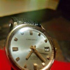 Relojes automáticos: RELOJ SUPER WATCH 25RUVIS AUTOMATICO CALENDARIO CHAPADO 20MICRAS FUNCIONA. Lote 183352912