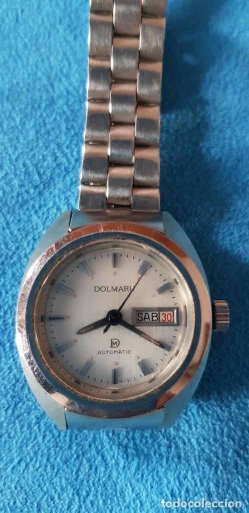 149-RELOJ DOLMARU SRA., AUTOMÁTICO, CALENDARIO, SEMANARIO, 21 RUBÍS, ARMY ORIGINAL. (Relojes - Relojes Automáticos)