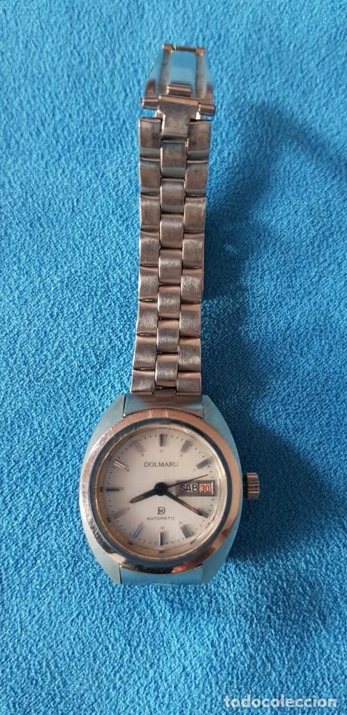 Relojes automáticos: 149-Reloj Dolmaru Sra., automático, calendario, semanario, 21 rubís, army original. - Foto 2 - 183668817