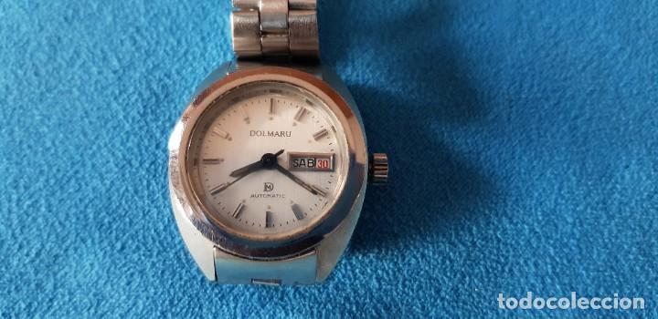 Relojes automáticos: 149-Reloj Dolmaru Sra., automático, calendario, semanario, 21 rubís, army original. - Foto 4 - 183668817