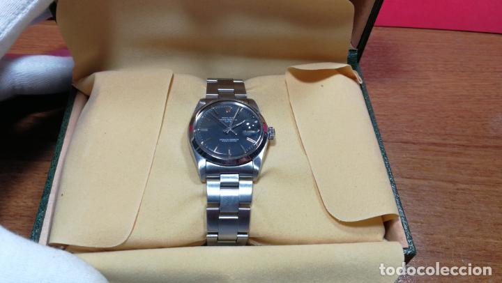 Relojes automáticos: RELOJ ROLEX OYSTER DATE ESFERA NEGRA del año 1976 , calibre 1570, de 26 rubís - Foto 27 - 183792187