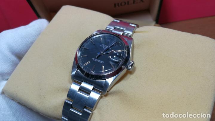 Relojes automáticos: RELOJ ROLEX OYSTER DATE ESFERA NEGRA del año 1976 , calibre 1570, de 26 rubís - Foto 28 - 183792187