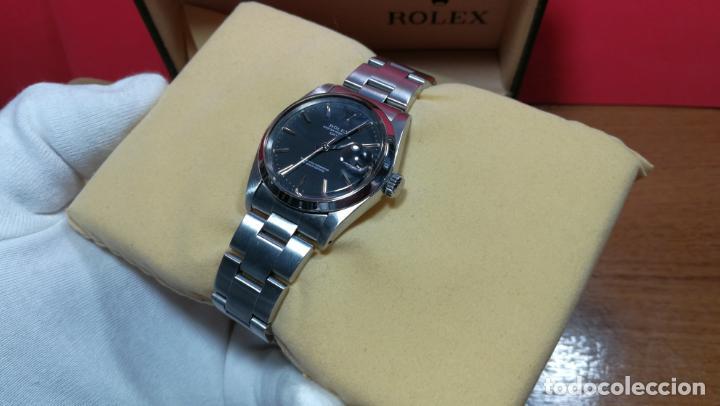 Relojes automáticos: RELOJ ROLEX OYSTER DATE ESFERA NEGRA del año 1976 , calibre 1570, de 26 rubís - Foto 29 - 183792187