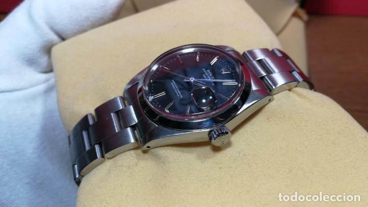 Relojes automáticos: RELOJ ROLEX OYSTER DATE ESFERA NEGRA del año 1976 , calibre 1570, de 26 rubís - Foto 30 - 183792187