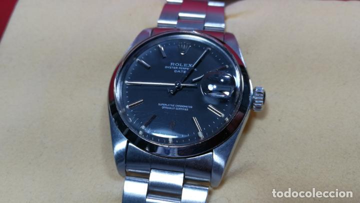 Relojes automáticos: RELOJ ROLEX OYSTER DATE ESFERA NEGRA del año 1976 , calibre 1570, de 26 rubís - Foto 31 - 183792187