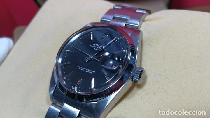 Relojes automáticos: RELOJ ROLEX OYSTER DATE ESFERA NEGRA del año 1976 , calibre 1570, de 26 rubís - Foto 32 - 183792187