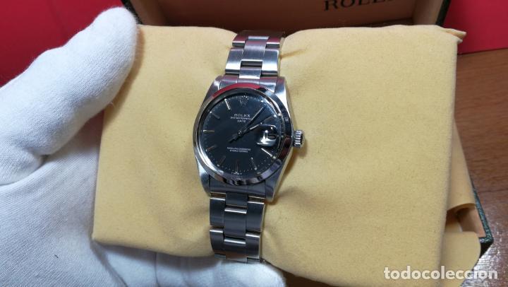 Relojes automáticos: RELOJ ROLEX OYSTER DATE ESFERA NEGRA del año 1976 , calibre 1570, de 26 rubís - Foto 42 - 183792187