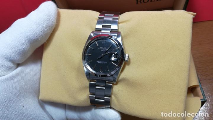 Relojes automáticos: RELOJ ROLEX OYSTER DATE ESFERA NEGRA del año 1976 , calibre 1570, de 26 rubís - Foto 43 - 183792187