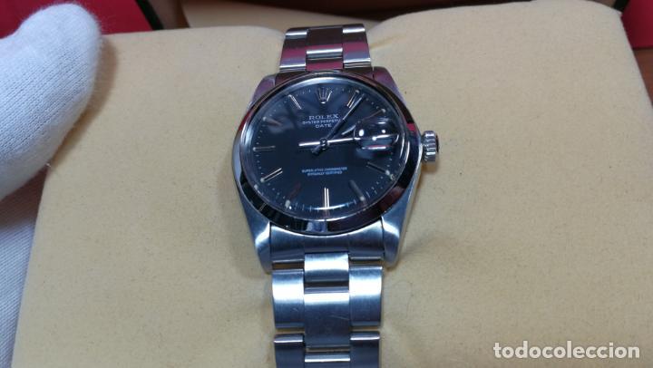 Relojes automáticos: RELOJ ROLEX OYSTER DATE ESFERA NEGRA del año 1976 , calibre 1570, de 26 rubís - Foto 44 - 183792187
