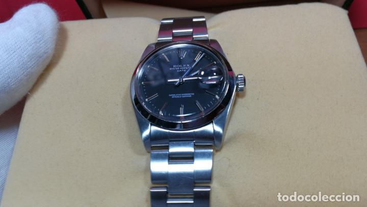 Relojes automáticos: RELOJ ROLEX OYSTER DATE ESFERA NEGRA del año 1976 , calibre 1570, de 26 rubís - Foto 45 - 183792187