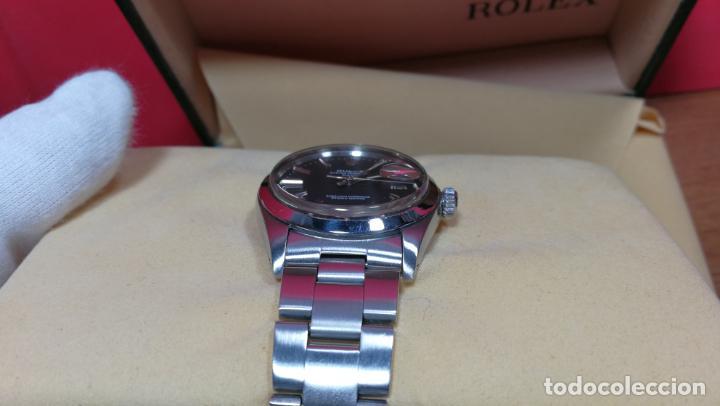 Relojes automáticos: RELOJ ROLEX OYSTER DATE ESFERA NEGRA del año 1976 , calibre 1570, de 26 rubís - Foto 46 - 183792187