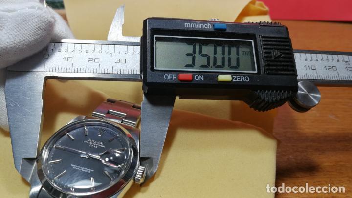 Relojes automáticos: RELOJ ROLEX OYSTER DATE ESFERA NEGRA del año 1976 , calibre 1570, de 26 rubís - Foto 61 - 183792187