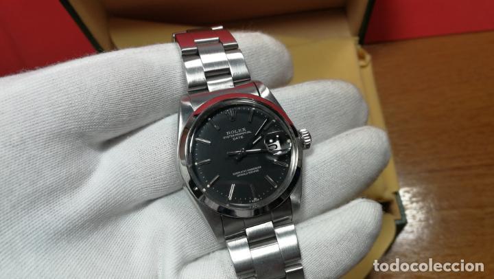 Relojes automáticos: RELOJ ROLEX OYSTER DATE ESFERA NEGRA del año 1976 , calibre 1570, de 26 rubís - Foto 63 - 183792187