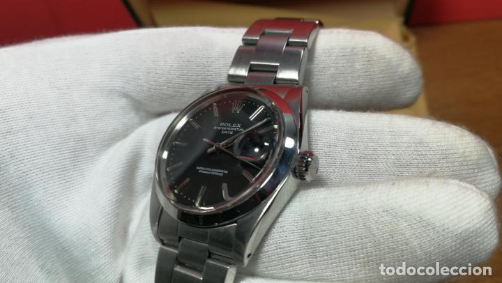 Relojes automáticos: RELOJ ROLEX OYSTER DATE ESFERA NEGRA del año 1976 , calibre 1570, de 26 rubís - Foto 64 - 183792187