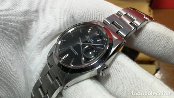 Relojes automáticos: RELOJ ROLEX OYSTER DATE ESFERA NEGRA del año 1976 , calibre 1570, de 26 rubís - Foto 65 - 183792187