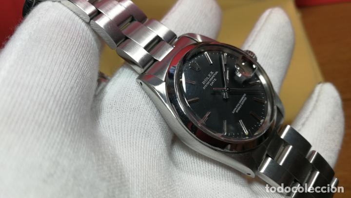 Relojes automáticos: RELOJ ROLEX OYSTER DATE ESFERA NEGRA del año 1976 , calibre 1570, de 26 rubís - Foto 66 - 183792187